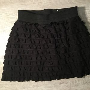 Justice Black Girls Mini Skirt